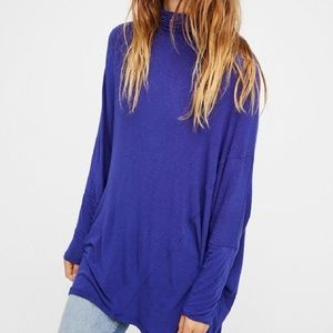 We The Free People Terry Turtleneck Purple Flowy